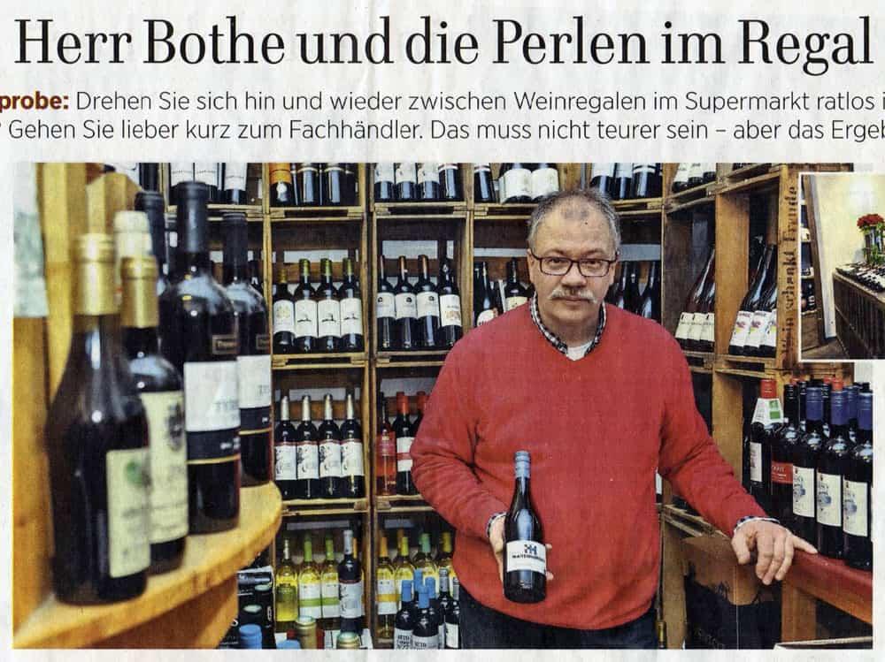 lindenerweinladen hannover presse - Lokale Presse: Herr Bothe und die Perlen im Regal